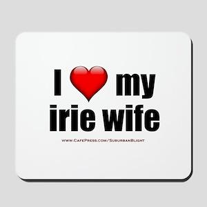 """I Love My Irie Wife"" Mousepad"