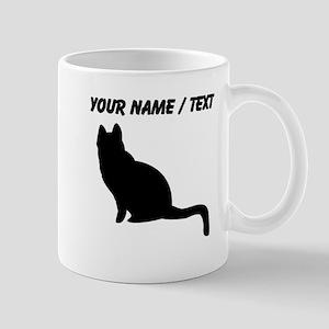 Custom Black Cat Silhouette Mugs