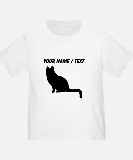 Custom Black Cat Silhouette T-Shirt