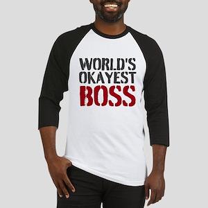 Worlds Okayest Boss Baseball Jersey
