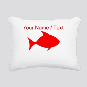 Custom Red Fish Rectangular Canvas Pillow