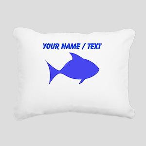 Custom Blue Fish Rectangular Canvas Pillow