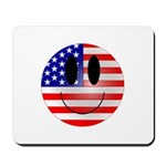 USA Smiley Mousepad