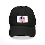 USA Smiley Black Cap