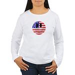 USA Smiley Women's Long Sleeve T-Shirt