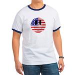 USA Smiley Ringer T