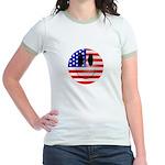 USA Smiley Jr. Ringer T-Shirt