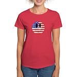 USA Smiley Women's Dark T-Shirt