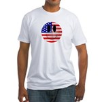 USA Smiley Fitted T-Shirt