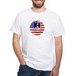 USA Smiley White T-Shirt