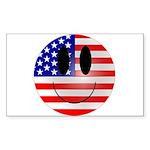 USA Smiley Rectangle Sticker
