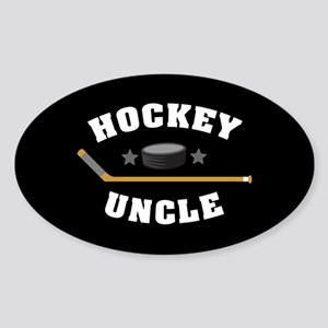 Hockey Uncle Sticker (Oval)