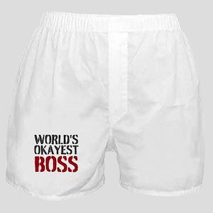 Worlds Okayest Boss Boxer Shorts