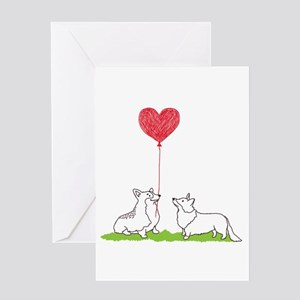 Corgi Valentine - Greeting Card