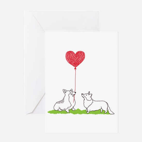 Corgi Valentine - Greeting Card