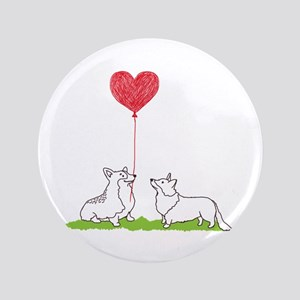 Corgi Valentine - Button