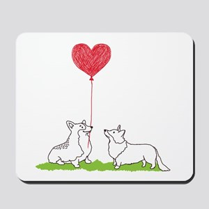 Corgi Valentine - Mousepad