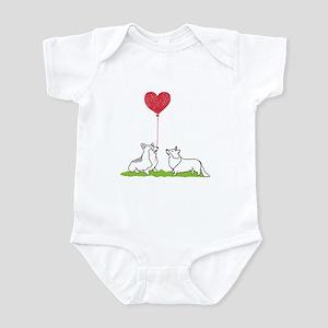 Corgi Valentine - Baby Bodysuit