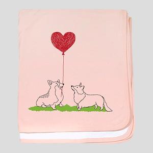 Corgi Valentine - Baby Blanket