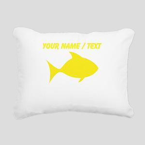 Custom Yellow Fish Rectangular Canvas Pillow