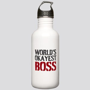 Worlds Okayest Boss Water Bottle
