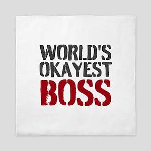 Worlds Okayest Boss Queen Duvet