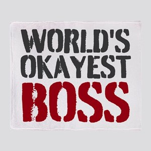Worlds Okayest Boss Throw Blanket