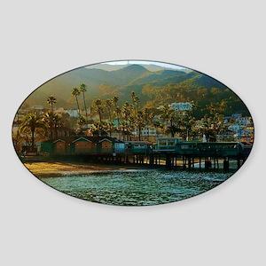 Catalina Pier Sticker (Oval)