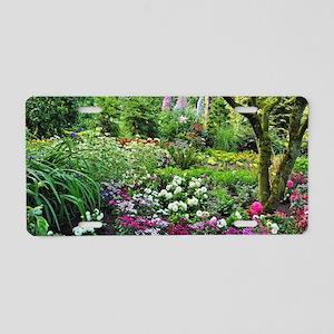 Spring woodland garden Aluminum License Plate