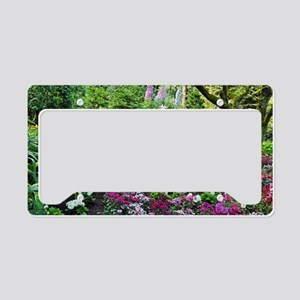 Spring woodland garden License Plate Holder