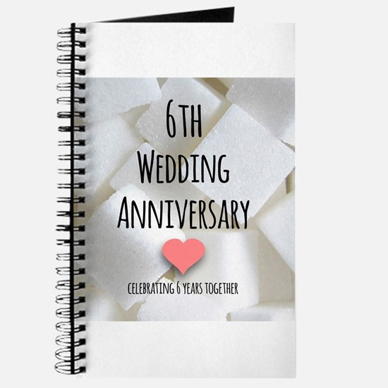6th Wedding Anniversary Journal