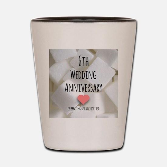 6th Wedding Anniversary Shot Glass