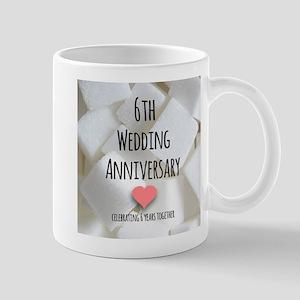6th Wedding Anniversary Mugs