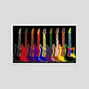 Be Creative Guitar  3'x5' Area Rug