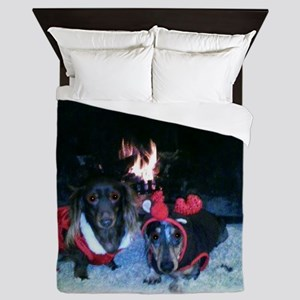 Christmas duo Mag and Nicky 5 Queen Duvet