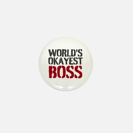 Worlds Okayest Boss Mini Button