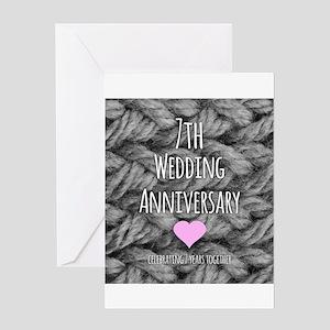 7th wedding anniversary greeting cards cafepress 7th wedding anniversary greeting cards m4hsunfo