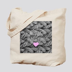 7th Wedding Anniversary Tote Bag