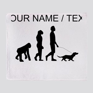 Custom Dog Walking Evolution Throw Blanket
