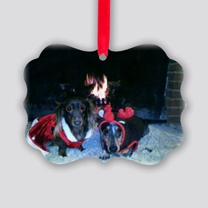 Christmas Duo Mag And Nicky 5 Ornament