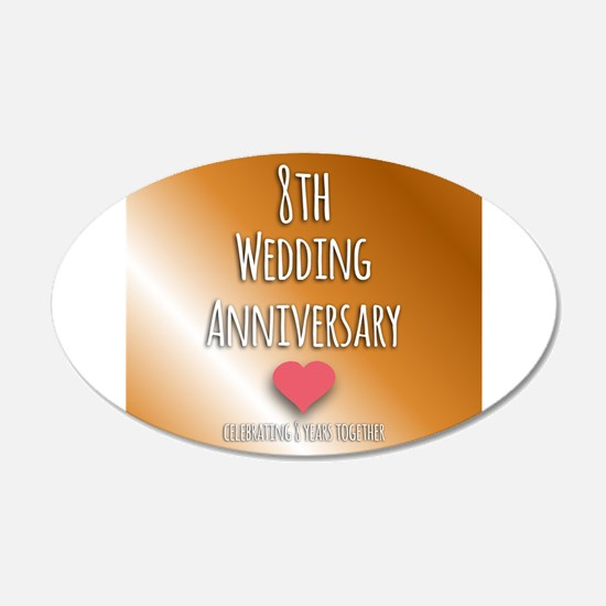 8th Wedding Anniversary Wall Decal