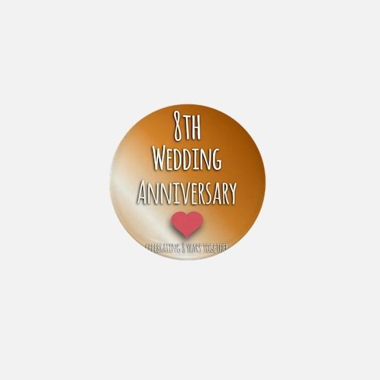 8th Wedding Anniversary Mini Button