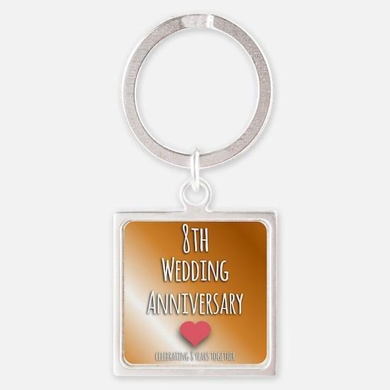 8th Wedding Anniversary Keychains