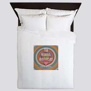 9th Wedding Anniversary Queen Duvet