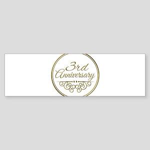 3rd Anniversary Bumper Sticker