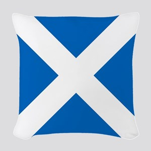 Team Scotland Saltire Woven Throw Pillow