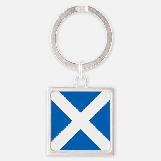 Team Scotland Saltire Square Keychain