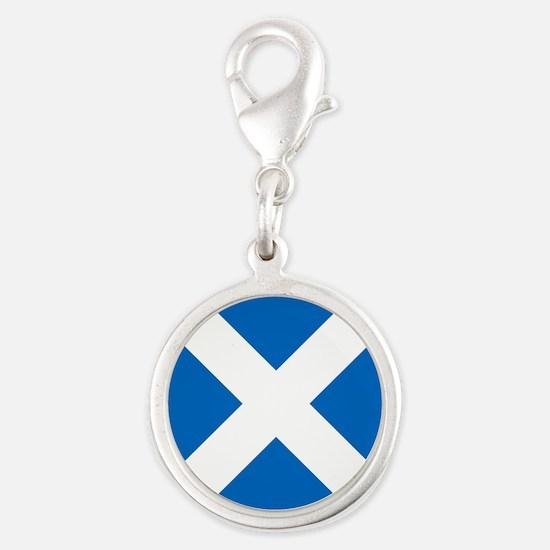 Team Scotland Saltire Silver Round Charm
