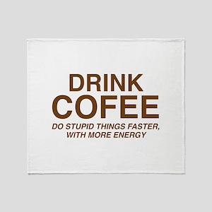 Drink Coffee Stadium Blanket