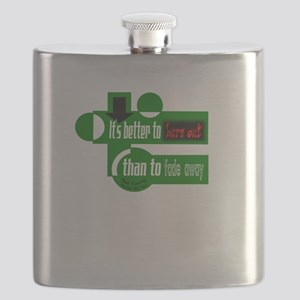 Burn Out/Fade Away-Neil Young Flask